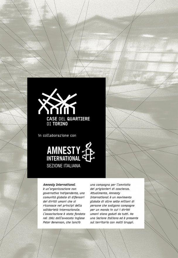 Amnesty International - Presentazione rapporto annuale 2014, mostre e incontri nelle Case del Quartiere di Torino