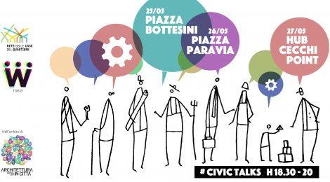 Civic Talks nelle Case del Quartiere per il Festival Architettura in Città 2017