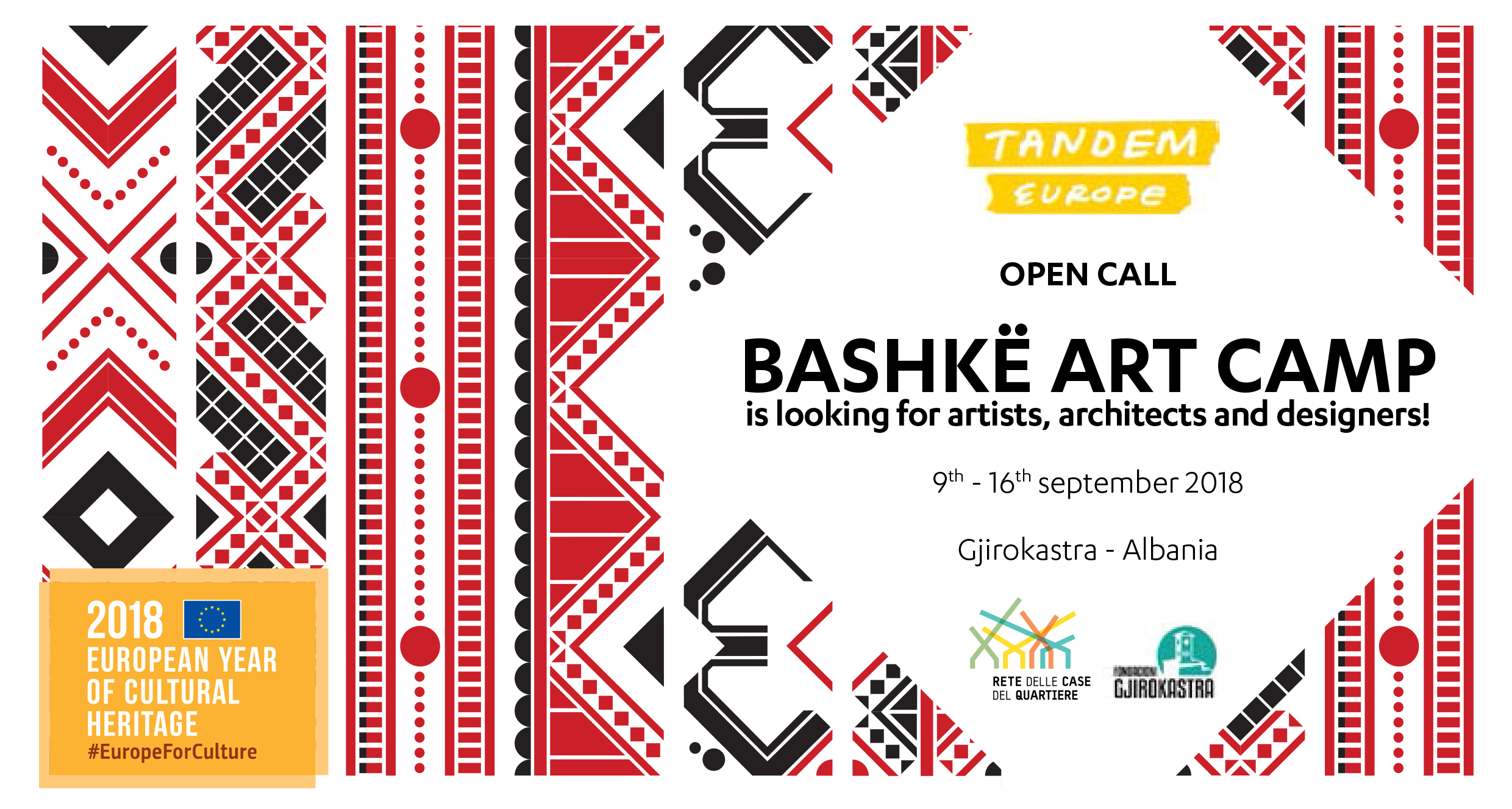 Aperta la CALL FOR APPLICATION per partecipare al BASHKË ART CAMP 2018!