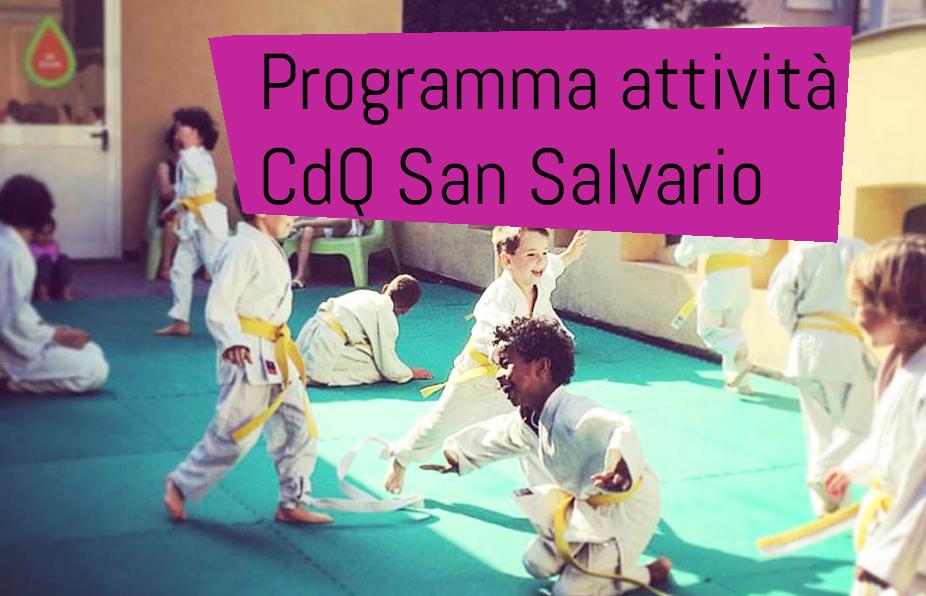 CDQ SAN SALVARIO – NUOVI CORSI, LABORATORI, ATTIVITA' 2018-2019