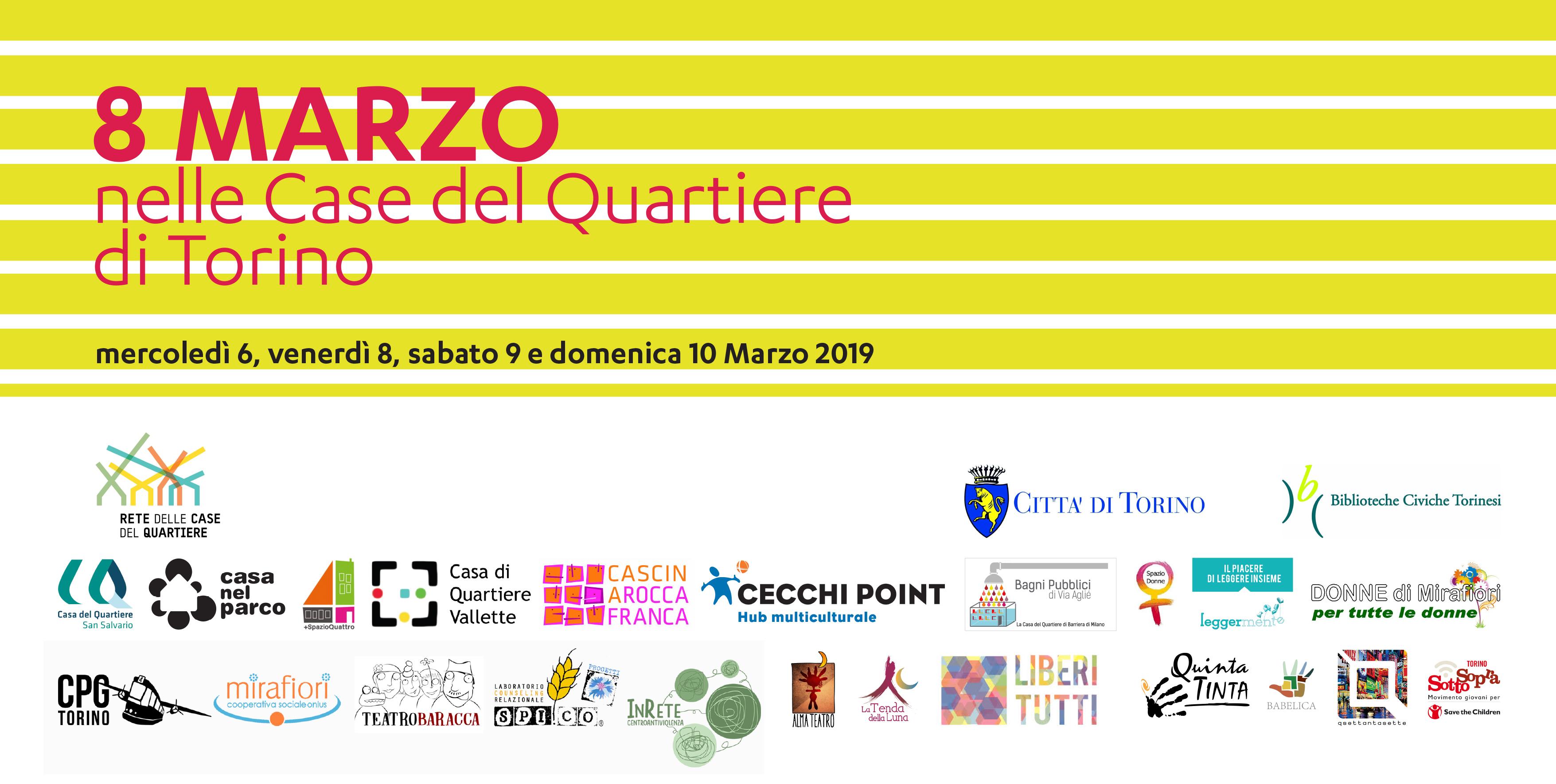 8 Marzo nelle Case del Quartiere di Torino