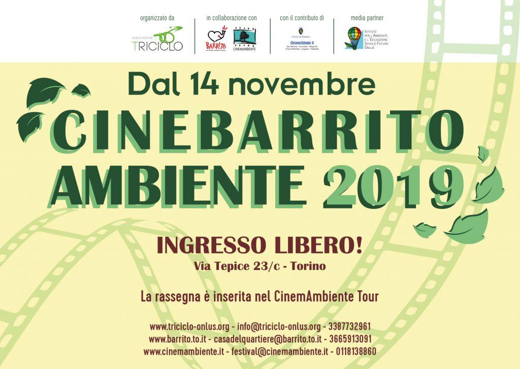 CineBarrito Ambiente 2019 - 5 serate di proiezioni a tema ecologico dal 14 novembre al 12 dicembre