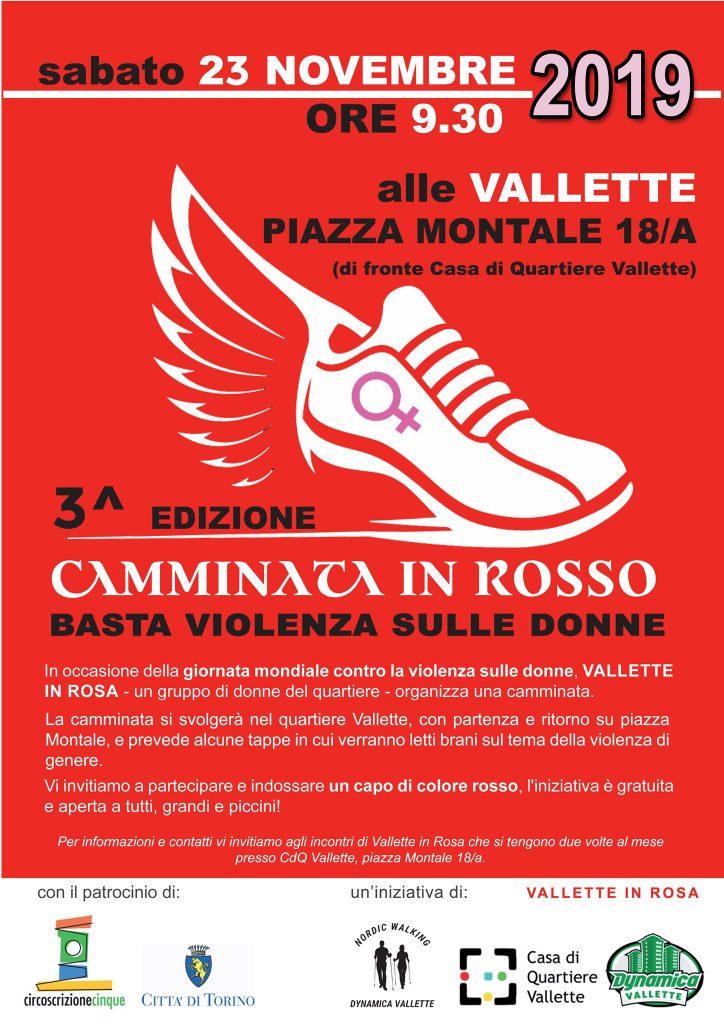 Terza edizione della camminata in rosso alla Casa di Quartiere Vallette