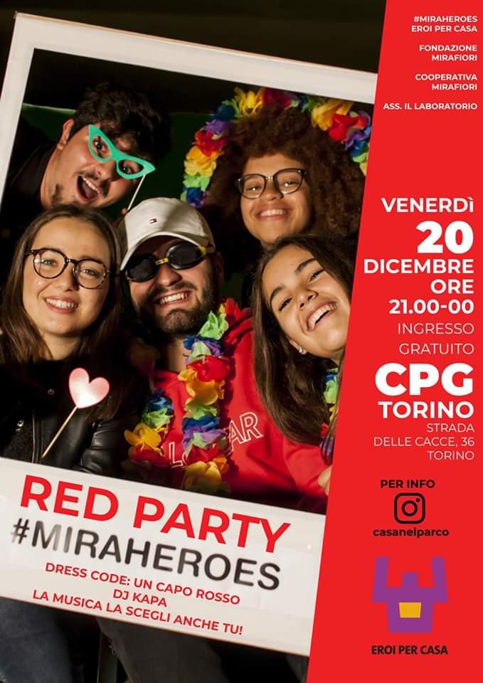Red Party Miraheroes alla Casa nel Parco