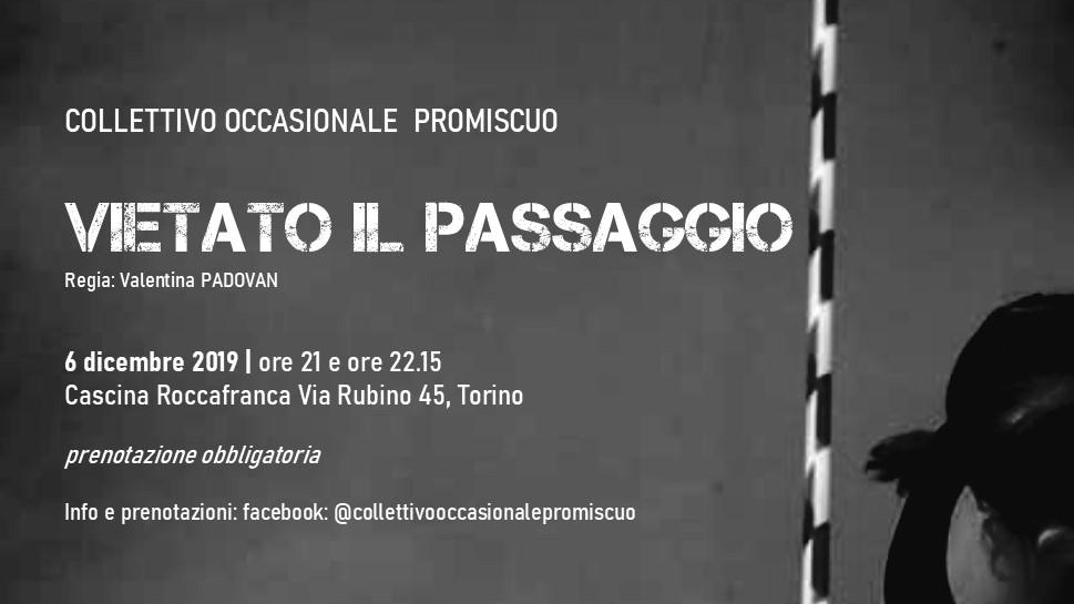Spettacolo vietato il passaggio in Cascina Roccafranca